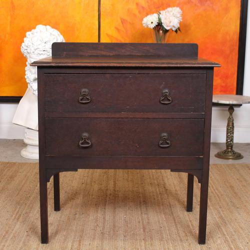Arts & Crafts Oak Chest of Drawers (1 of 12)