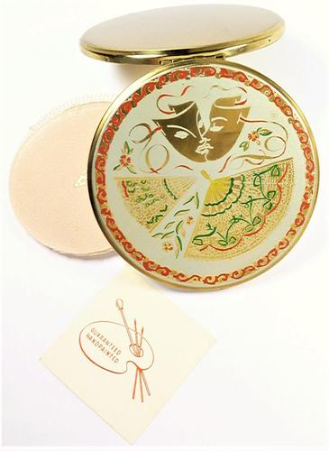 Vintage Kigu Theatrical Mask Compact Mirror 1950s (1 of 8)