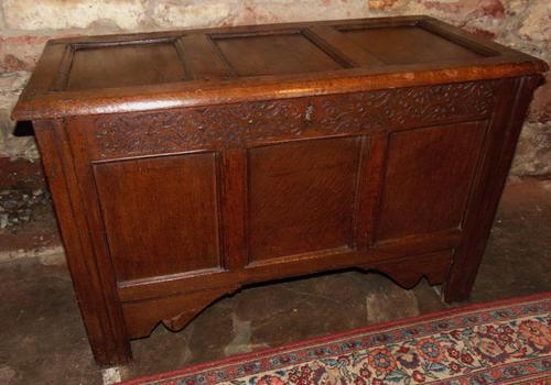 Jacobean Paneled Oak Coffer (1 of 7)