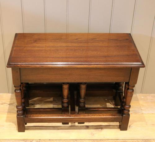 Solid Oak Nest of Tables (1 of 11)