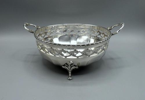 Arts & Crafts Silver Plated Fruit Bowl c.1900 (1 of 9)