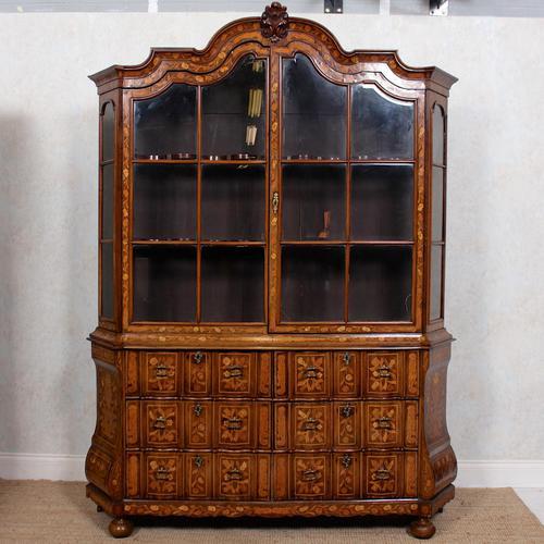 Dutch Bombe Bookcase Vitrine Display Cabinet on Chest Glazed (1 of 17)