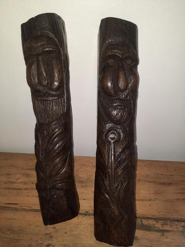 12th-15th Century Medieval Slavic Viking Carved Wooden Pagan Gods (1 of 6)