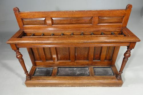 Fine Late 19th Century Country House Oak Hall or Stick Stand (1 of 5)