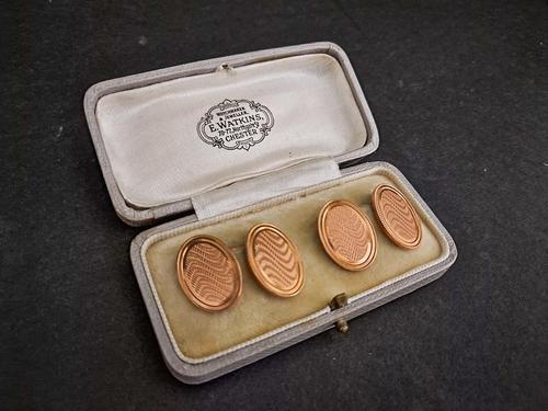 Pair of  Gold Cufflinks (1 of 3)