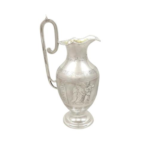 Antique Victorian Sterling Silver Jug 1871 - Roman Soldiers (1 of 10)