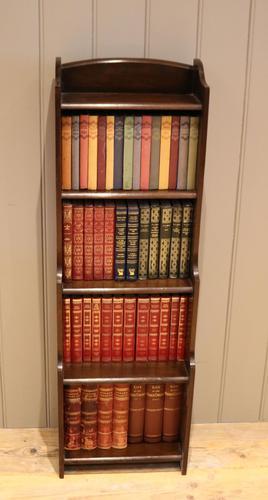 Dark Oak Open Waterfall Bookcase (1 of 10)