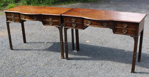 1920s Pair of Mahogany Chippendale Style Side Tables (1 of 4)