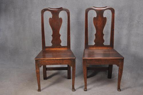 Pair Of Early 18th Century Oak Side Chairs (1 of 6)