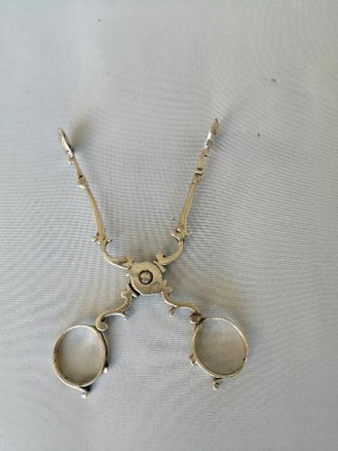 Excellent Pair of 18th Century Silver Sugar Nips (1 of 5)