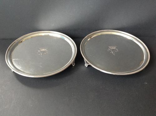 Pair of Antique Georgian Silver Salvers - 1786 (1 of 4)