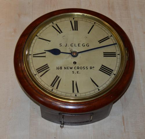 Antique S J Clegg London Fusee Dial Wall Clock (1 of 4)