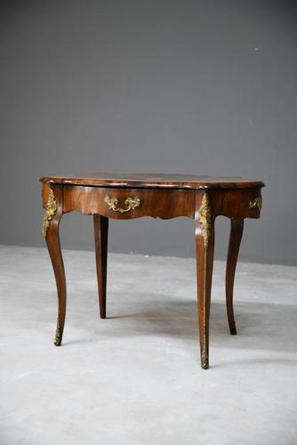 French Inlaid Walnut Centre Table (1 of 12)