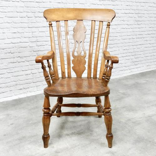 Large Windsor Lyreback Armchair (1 of 7)