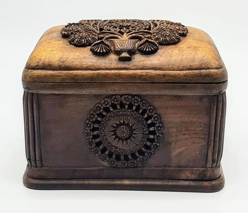 Antique Balian Hand Carved Wooden Box - Highly Ornate (1 of 5)