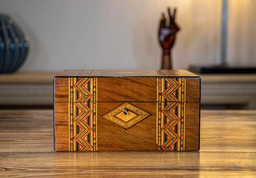 Tunbridge Ware Table Box c.1880 (1 of 8)