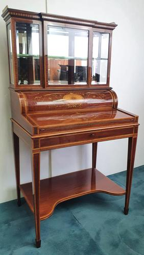 Edwardian Inlaid Mahogany Bonheur Du Jour Desk (1 of 7)