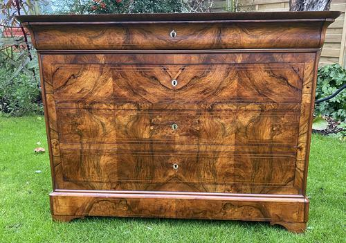 Burr walnut Louis Philippe commode (1 of 13)
