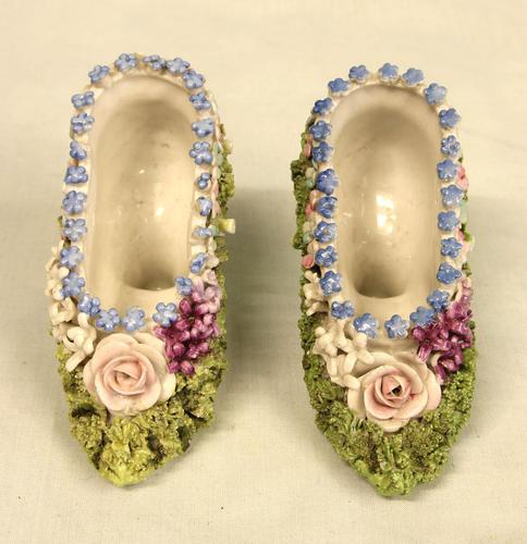 Antique Porcelain Pair of Shoes (1 of 5)