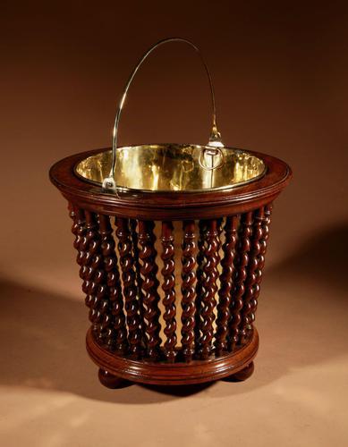 Beautiful Mahogany Tea Stove Bucket / Peat Bucket Jardinière (1 of 11)