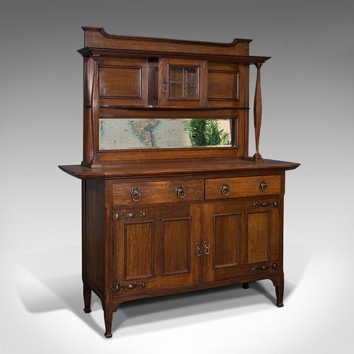 Large Antique Sideboard, English, Oak, Dresser, Cabinet, Liberty & Co, Victorian (1 of 12)