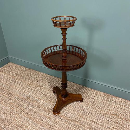 Victorian Rosewood Circular Antique Occasional Table (1 of 7)