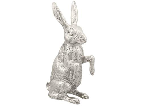 Sterling Silver Hare Sugar Box - Antique Victorian (1 of 12)