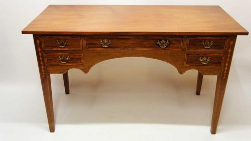 Edwardian Regency Style Inlaid Mahogany Writing Table (1 of 24)
