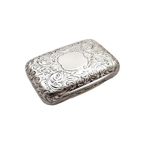 Antique Victorian Sterling Silver Vinaigrette 1856 (1 of 11)