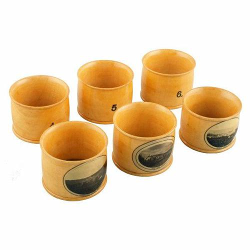 Set of Mauchline Ware Napkin Rings (1 of 8)