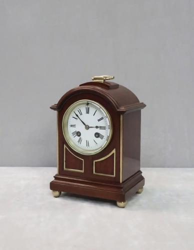 French Belle Epoque Mahogany Mantel Clock by L.P Japy (1 of 8)
