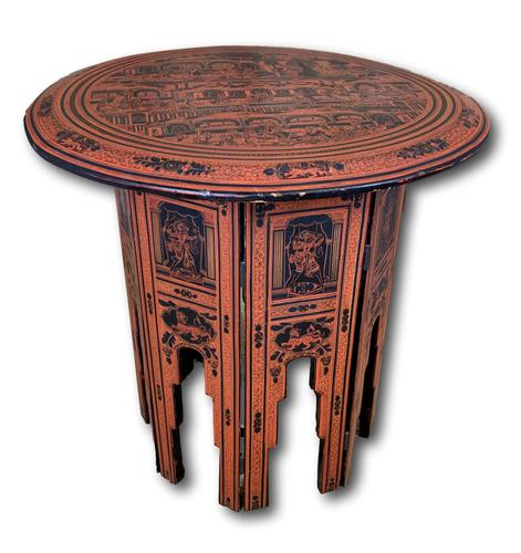 Circular Lacquered Eastern Table (1 of 5)