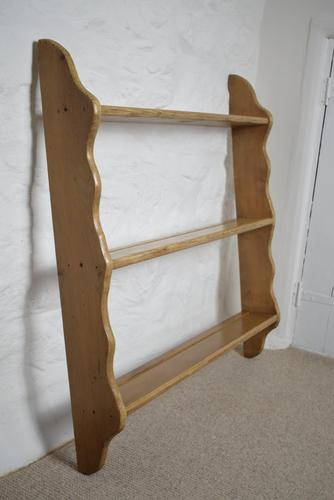 Antique Pine Plate Rack Early 20th Century (1 of 10)