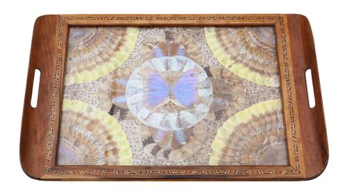 Inlaid Tunbridge Ware Butterfly Serving Tray c.1920 (1 of 5)