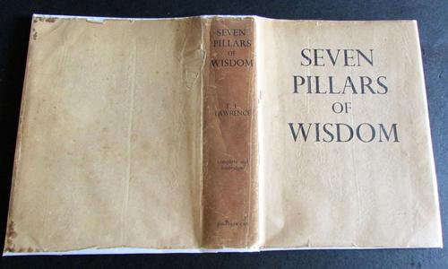 1937 Seven Pillars of Wisdom by T E Lawrence  with Original Dust Jacket (1 of 5)