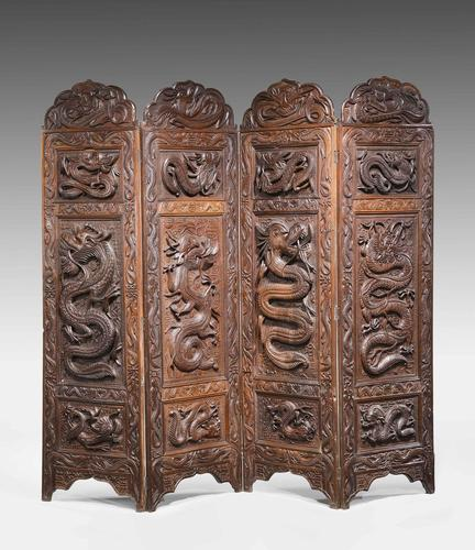 19th Century Carved Eastern Screen (1 of 9)