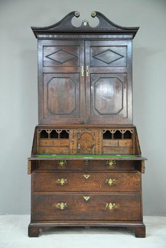 Antique Oak Bureau Bookcase (1 of 9)