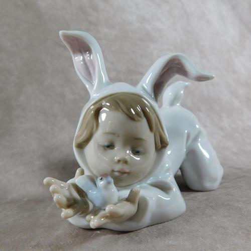 """""""Mi Difraz De Conejito"""" or """"My Little Bunny Baby"""" Hand Modelled Porcelain Figure by Nao (1 of 7)"""