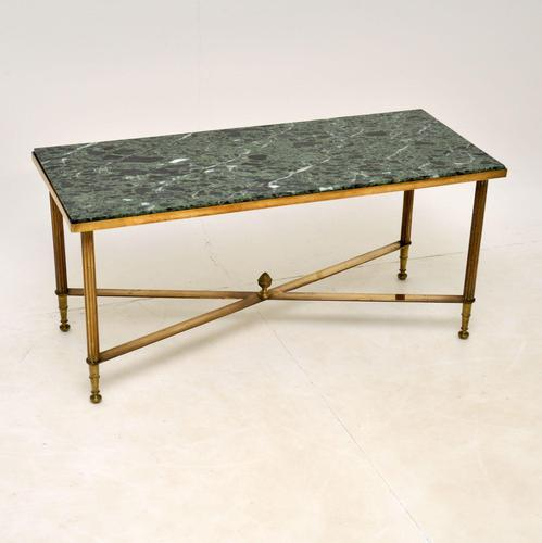 Vintage Brass & Marble Coffee  Table (1 of 9)