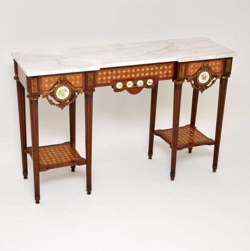 Antique French Marble Top Console Table (1 of 11)