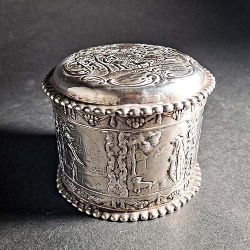 Dutch Silver Tea Caddy (1 of 7)
