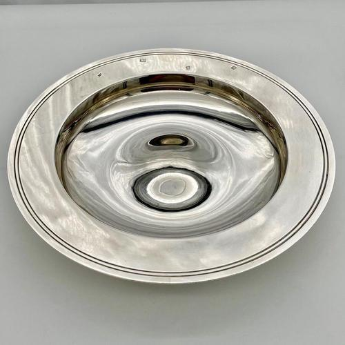 20th Century Modern Large Sterling Silver Armada Dish London 1994 Mappin & Webb (1 of 7)