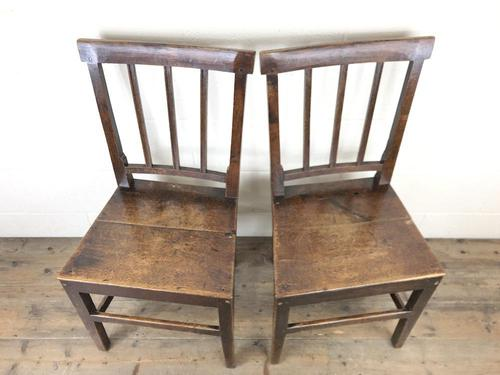 Pair of 19th Century Welsh Oak Farmhouse Chairs (1 of 12)