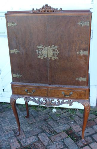 1940's Mahogany Drinks Cabinet on Cab Legs - Well Fitted Interior (1 of 5)