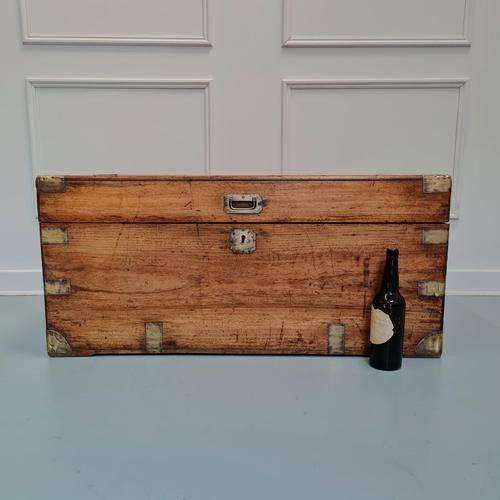 Camphorwood Military Trunk Owned by First World War Veteran (1 of 7)