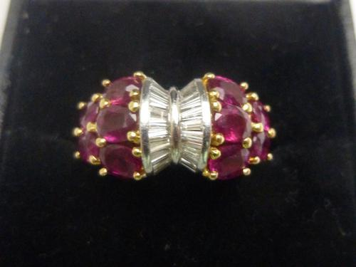 Ruby and diamond cocktail ring (1 of 4)