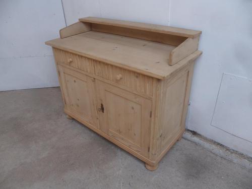 Art Deco Small Antique Pine 2 Door 2 Drawer Dresser Base to wax / paint (1 of 10)