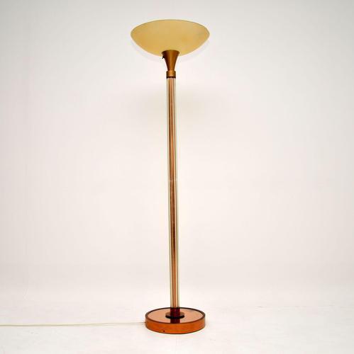 Art Deco Copper & Glass Vintage Floor Lamp (1 of 10)