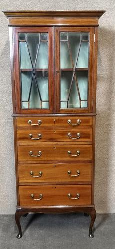 Edwardian Inlaid Mahogany Display / China Cabinet (1 of 10)