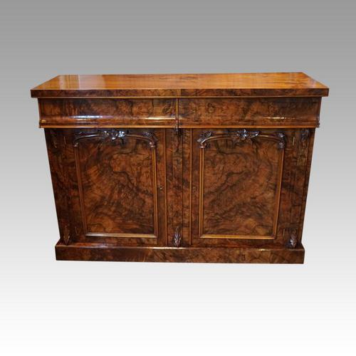Victorian Burr Walnut Chiffonier Sideboard (1 of 9)